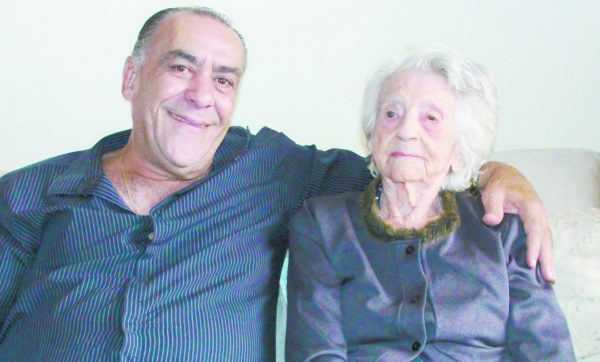 Vereador Paulo Bottura com Dona Maria Lúcia Segatto Belini
