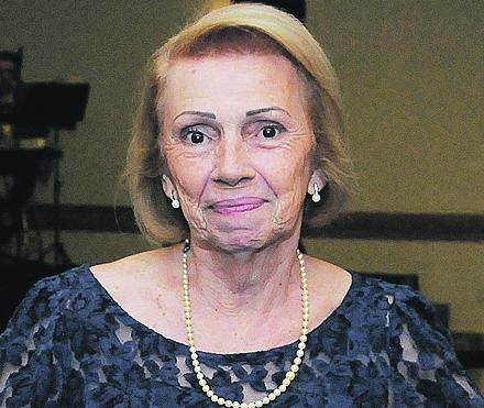 A presidente da APAMI, benemérita Dona Elza Di Bella