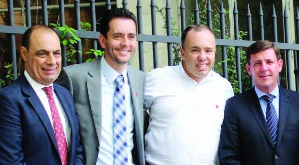 Os prefeitos eleitos José Auricchio Júnior, Paulo Serra, Kiko Teixeira e Orlando Morando