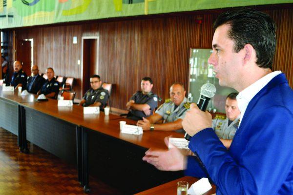 Paulo Serra discursou durante a formalização do Comitê Integrado de Segurança