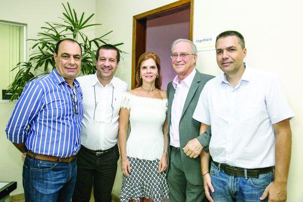 Auricchio, Marcel Munhoz, Rose Fiorotti, Filinto e Marcelo Ferreira