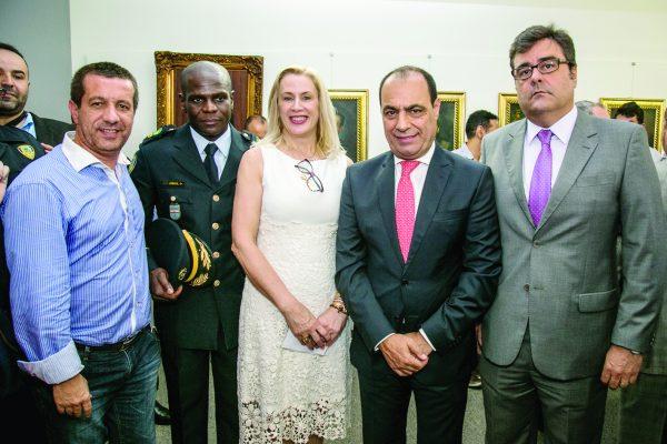Marcel Munhoz, Comandante GCM Lourival dos Santos Silva, Elaine Biasoli, Auricchio e o Delegado Eduardo Castanheira