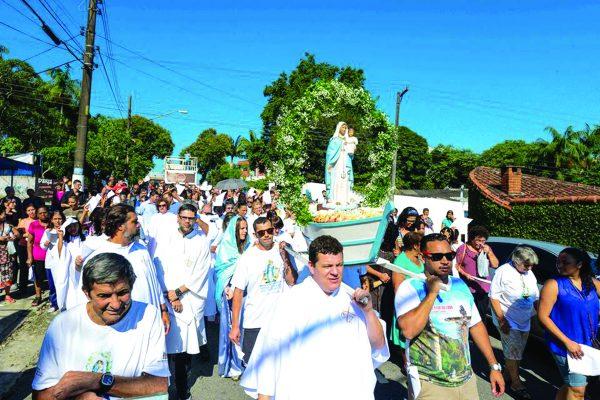 A condução da imagem foi feita pela Paróquia São João Batista, coordenada pelo Frei Sérgio Malacarne, o Vigário, Frei Josemar Machado, e aos demais organizadores da Paróquia