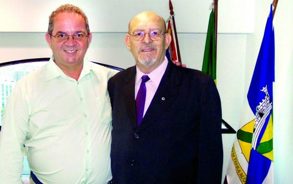 Secretário de Obras de Santo André, Luiz Zacarias com Pedroso